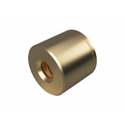 Round Bronze Nut - 3mm Lead