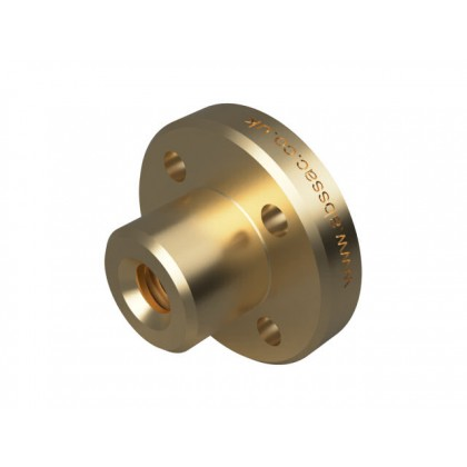 Flanged Bronze Nut - 3mm Lead